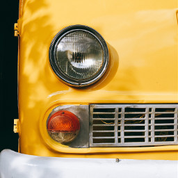 cars retrocar retro colour yellow freetoedit