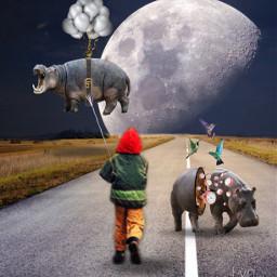 freetoedit hippo awesome surrealism myedit