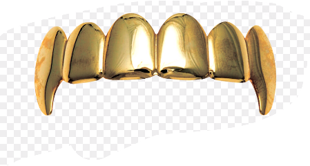 teeth tooth fang gold golden freetoedit