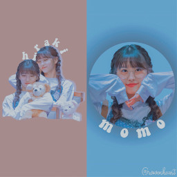 momo twice blue lightbrown æsthetic