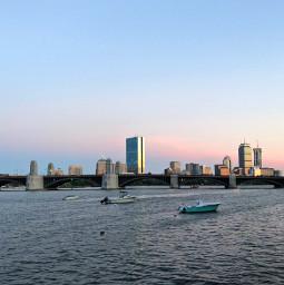 freetoedit sunset cityscape skyline bridge