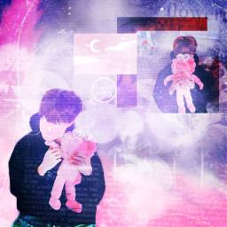 thtfaceless kpop pink hosoek mess freetoedit