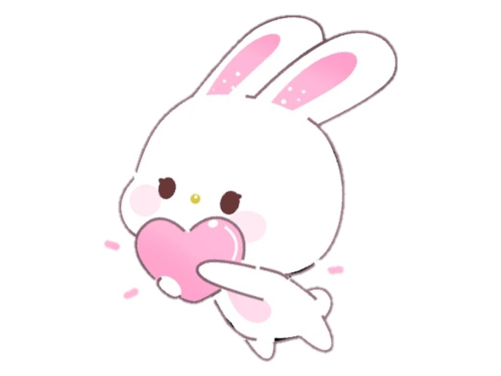 Pink Cute Aesthetic Kawaii Tumblr Soft Bunny Rabbit Whi