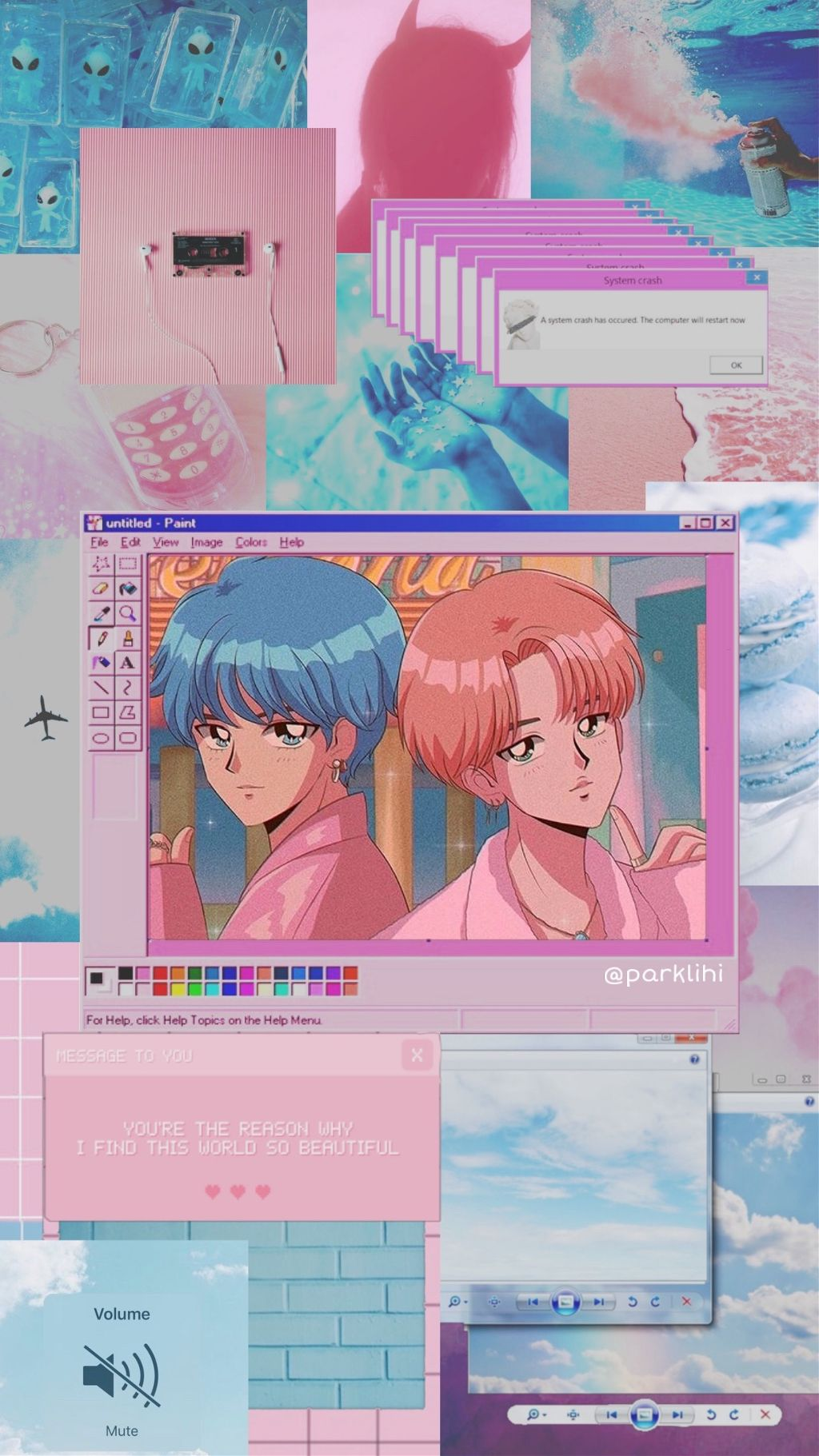 Anime Pink Aesthetic Wallpaper Desktop