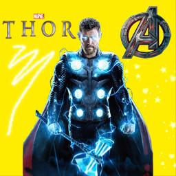 thor marvel odinson chrishemsworth avengers freetoedit