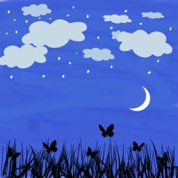 freetoedit drawing night moon background