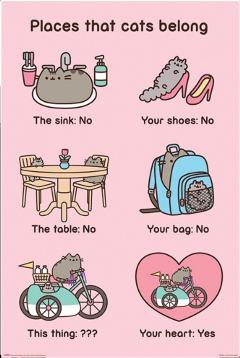 poster pusheen pusheenposter pusheenforever cat freetoedit