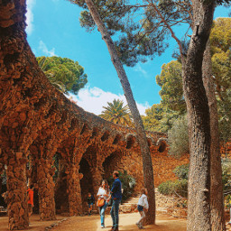 spain barcelona parkguell nature
