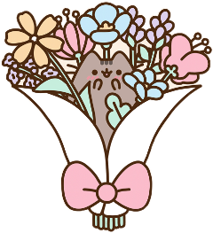 pusheen flower bouquet freetoedit