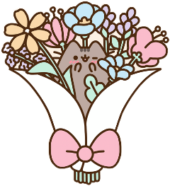 pusheen flowers bouquet bouquetofflowers freetoedit
