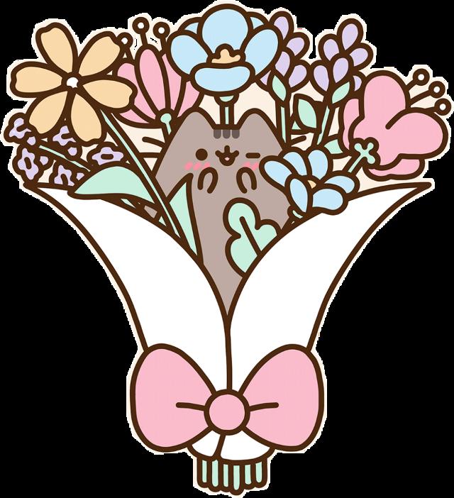 #pusheen #flowers #bouquet #bouquetofflowers #freetoedit