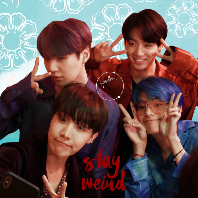 ❁ stay weird • look at these cuties!  { requests closed } ✧credits✧   ◌ bts from @elzmkim  《 5/8/19 》 ↳ tags↴ #freetoedit #bts #minyoongi #jeonjungkook #junghoseok #kimtaehyung #bangtanboys #beyondthescene