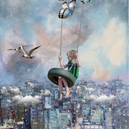 freetoedit swinging artistic work fantasy