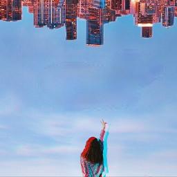 ecupsidedown upsidedown city cities peacesign