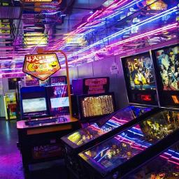 photo neon arcade vaporwave vintage