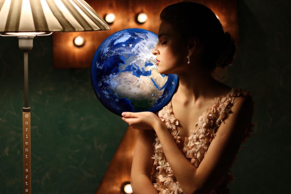 #freetoedit #woman #earth #shadow #contrast #fantasy #imagination #picsart @picsart