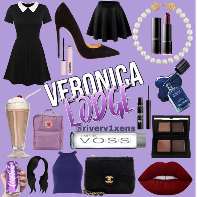 I don't like this as much as my last one #riverdale #veronicalodge #purpleaesthetic #moodboard #riverdalemoodboard #camilamendes
