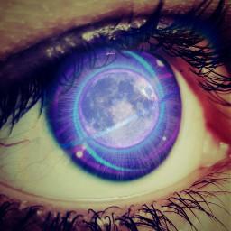 freetoedit eyecloseup space moon lomo