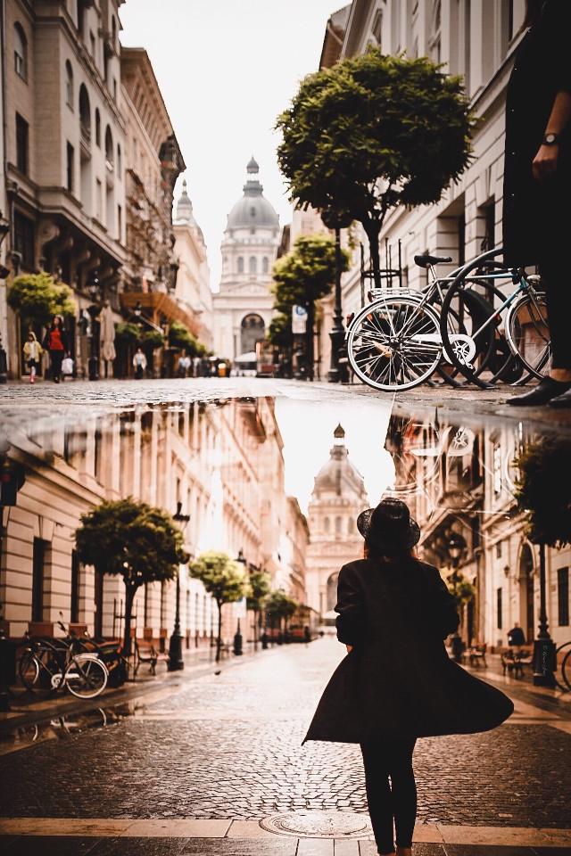 #interesting #people #art #travel #photography #city #budapest #hungary #girl #reflection #puddles #puddlephotography #moody #tones #editedwithpicsart #madewithpicsart #rain #rainy #rainyday #street