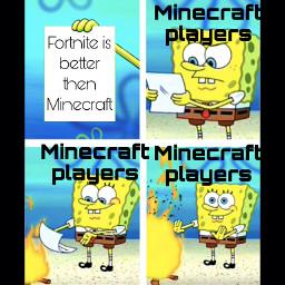 spongebob fornite minecraft meme freetoedit