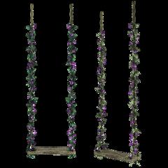 swing flower leaves perspective freetoedit