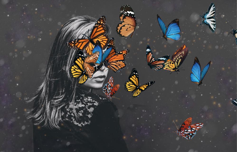 #freetoedit #interesting #imagination #butterfly #blackandwhite