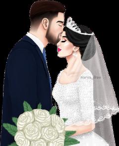 wedding boyfriends marriage marwa_draw pics_art stickersfreetoedit freetoedit
