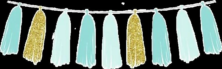 watercolor tassels banner pennant bunting freetoedit