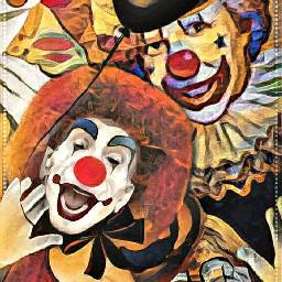 clowns picsart pixlr deeparteffects elvyrajones