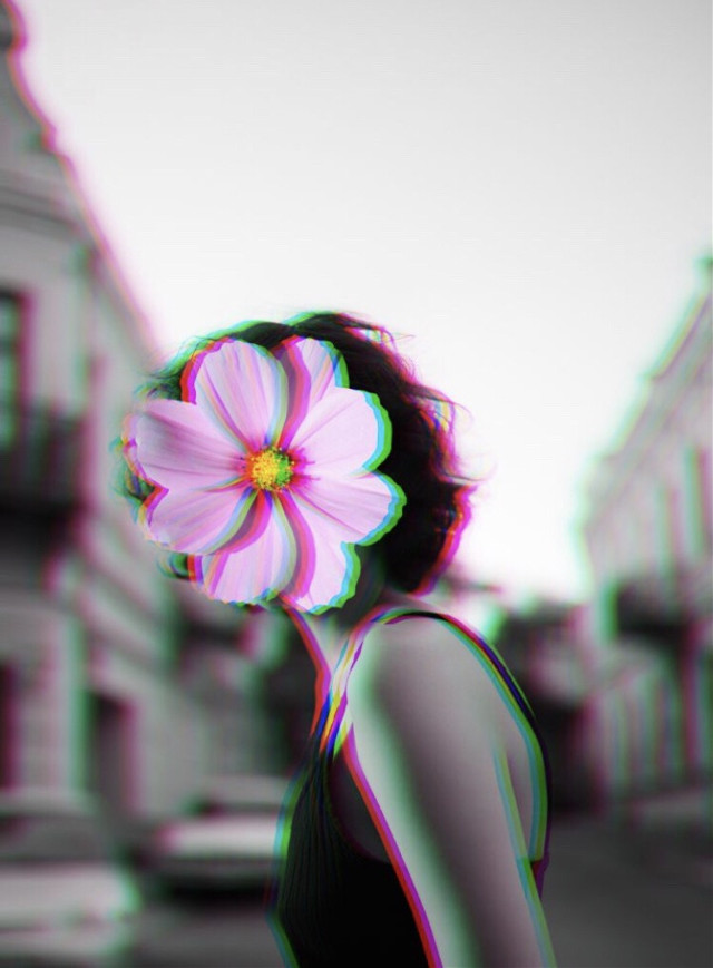 """Will we ever get tired of the Glitch FLTR? That's going to be a """"no"""" for us, dawg 🤷♀️🤷♂️😍 Shoutout to @paolapepelopez 🙌 #glitch #flower #faceless #glitchfltr #freetoedit"""