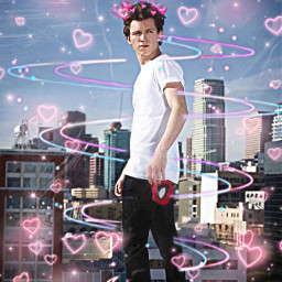 freetoedit tomholland art crownhearts spiderman