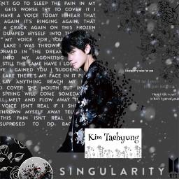 bts kimtaehyung singularity freetoedit