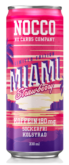 nocco strawberry miami energy drink freetoedit
