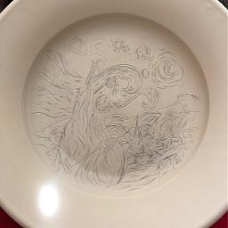 ceramics porcelain plate starrynight