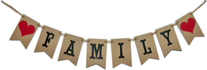 banner flags hearts burlap family freetoedit