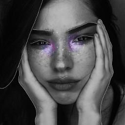 galaxymakeup art space makeup woman freetoedit
