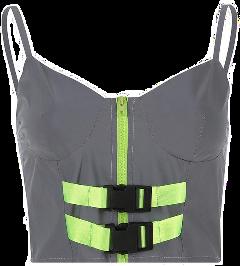 neon reflex green silver top freetoedit