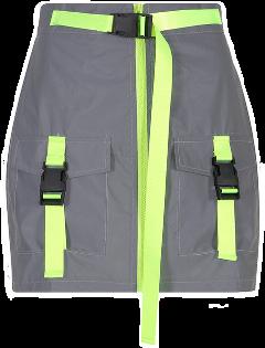 neon reflex green skirt miniskirt freetoedit