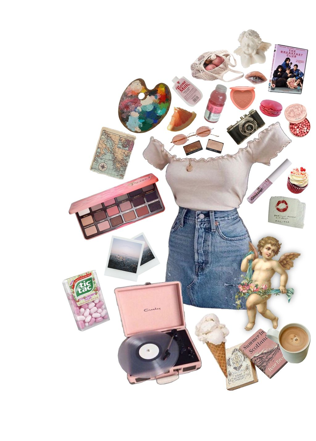 nichememe moodboard softgirl outfit aesthetic