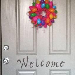 pcdoors doors easter wreath eggs