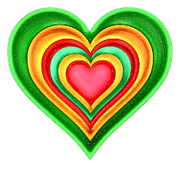freetoedit colorfull heart coeur multicolor