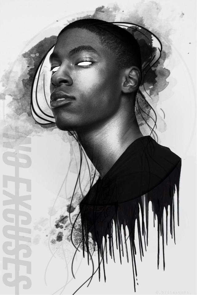 No Exscuses #freetoedit #madewithpicsart #editedbyme #briiaaunna #picsart #portrait #people #unsplash #jellyfish