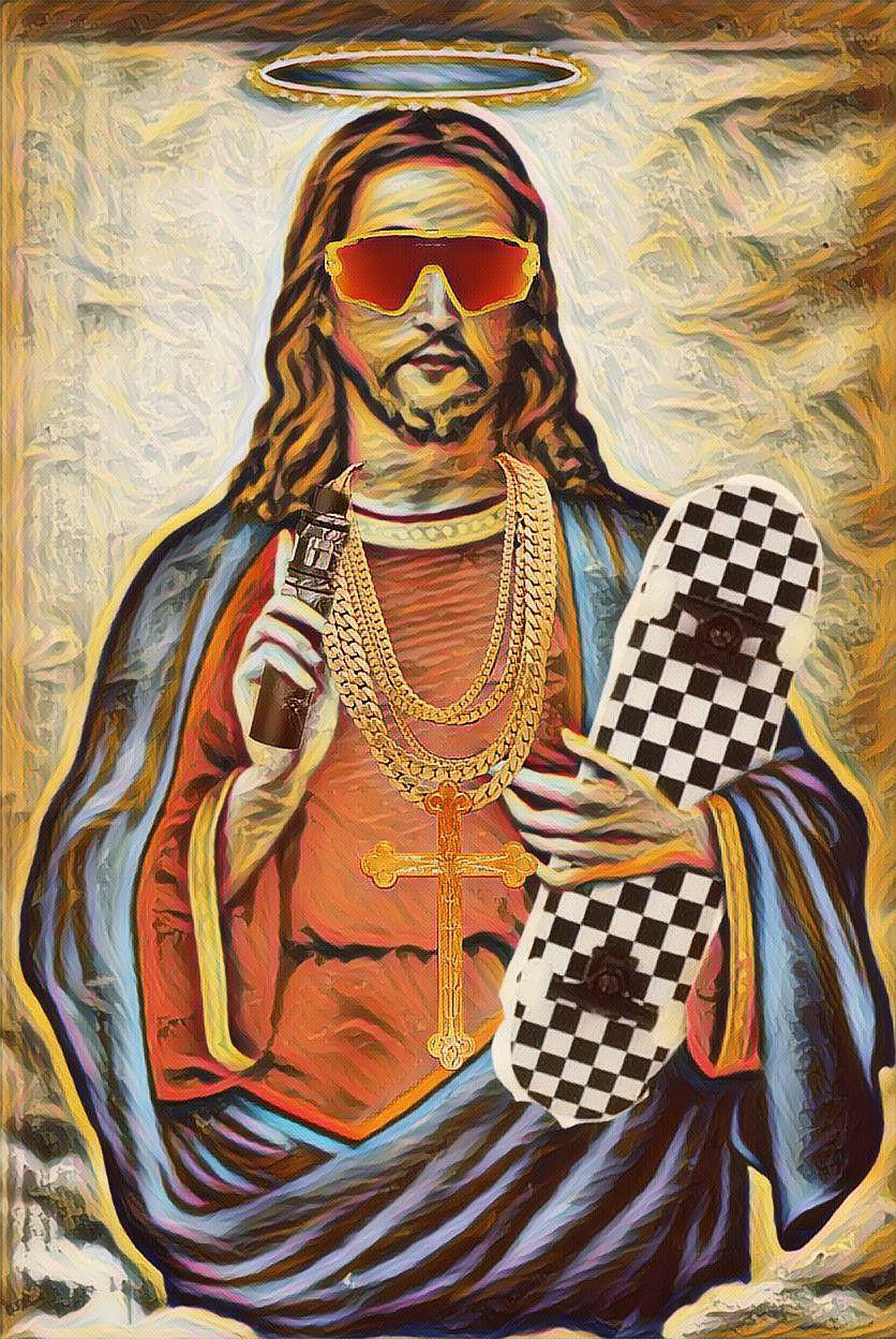 Dude jesus #freetoedit #dude #jesus #skater #broski