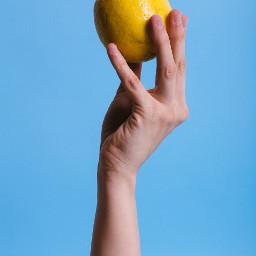 hand hands lemon freetoedit
