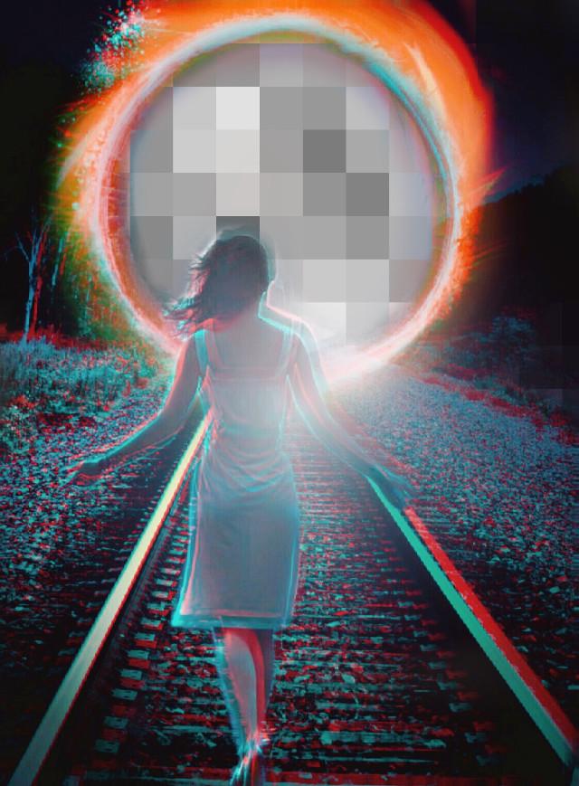 #freetoedit #thewonderfulworldofpa #surrealism #portal #gateway #dreamworld #railroadtracks #woman #trance #editedbyme #madewithpicsart #picsart @picsart #ecpixeleffect #pixeleffect Thank you for stickers😊  @san_dra_br @natado @jakethemoss2