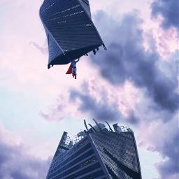 freetoedit superman building sky lol