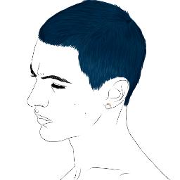 freetoedit boy bluehair ring