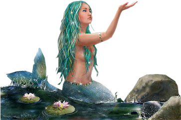 mermaid lake water sirena freetoedit