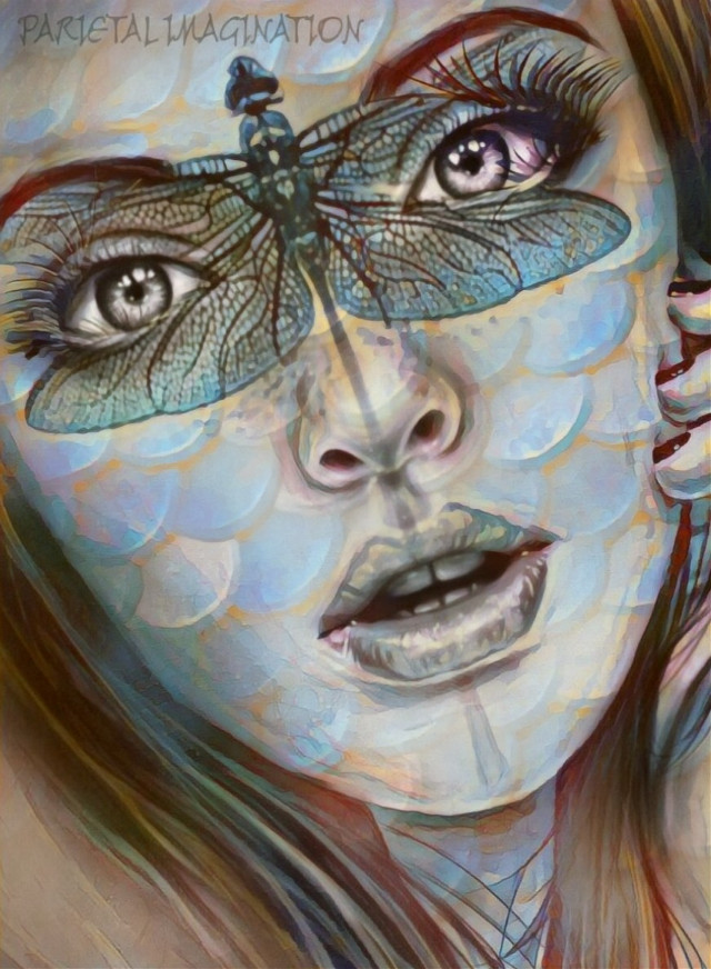 Edit by: Parietal Imagination Art @pa #portait #dragonfly #scales #remixofmyremix #magicfx #artisticfx #hue #vip #madewithpicsart #parietalimagination #ircmermay #beauty