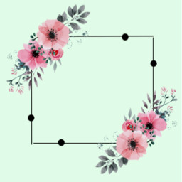 kpop flower flowers frame background freetoedit